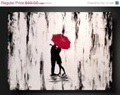 SPRING fever SALE Sale JMJARTSTUDIO Original Painting 18 X 24 Inches-------Stealing Time --------Textured