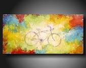 Original Painting Art  JMJARTSTUDIO Original Painting 18 X 36 INCHES ------- Summer Dreams--- ------