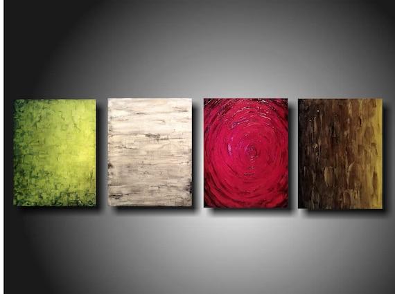 Art original Abstract painting JMJARTSTUDIO l 4  Piece Painting 20 Inches X 64 Inche Textured ----------- Beyond Belief-------custom