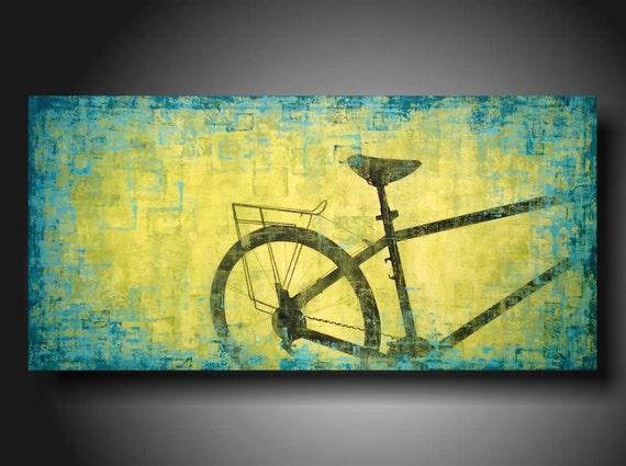 Art original Abstract painting    JMJARTSTUDIO Original Painting 48 X 24 Inches  ------- Move Ahead---Custom