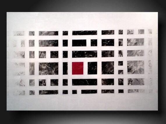 Art Painting Original Jmjartstudio Original Painting 24 X 36 Inches -------From a distance---Textured ------