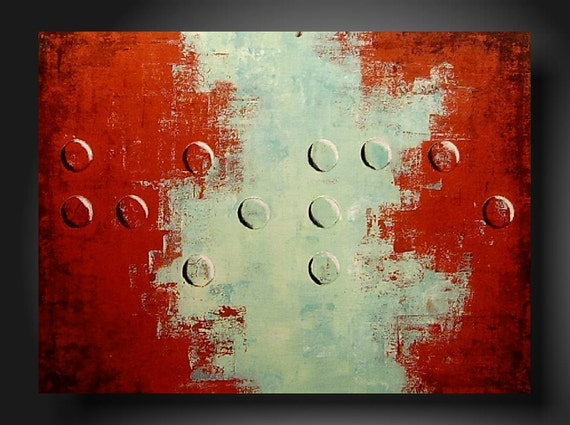 TODAY show  JMJARTSTUDIO Original Braille Painting 18 X 24 inches Hope