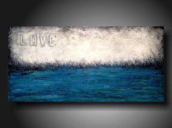 Art Painting Original Jmjartstudio Original Painting 24 X 48 Inches -------Love