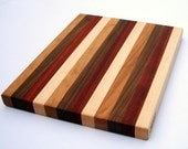 Maple, Walnut, Padauk and Cherry Edge Grain Wood Cutting Board - ScottBlocks