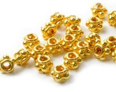 4pcs. 4 x 5.5 mm. 24K Vermeil Beads