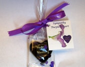 "Sympathy Remembrance Keepsake purple heart 1.5x1.5x.5"" 1.6oz"