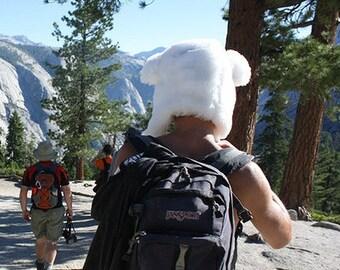 Polar Bear Hat, Adult Costume, Animal Hat