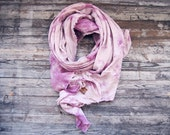 THE NOMAD - pink cotton scarf