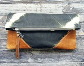 LIBRO CLUTCH - Leather Tie Dye