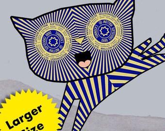 Larger Size Tunnock's Teacake Kitten - Digital Print/ Art Print - Cookie Print - Tunnocks Art