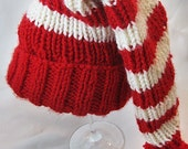 Toddler Candy Cane Striped Christmas Stocking Hat