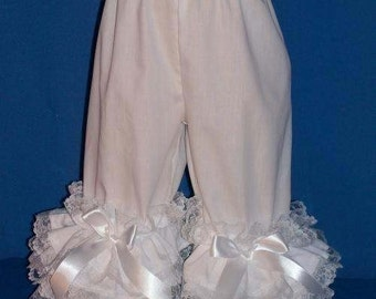 Boutique OOAK Custom Made Sizes 5 to 12 Varity of Colors Pantaloons Accented in White