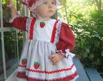 Now Taking Orders for Halloween...Boutique Larger Size OOAK Strawberry Shortcake Dress