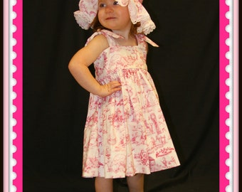 Stephanie Collection Boutique Rose Toile Nursery Rhyme Dress Set