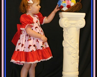 Stephanie Collection Boutique OOAK Minnie Mouse Ruffle Dress