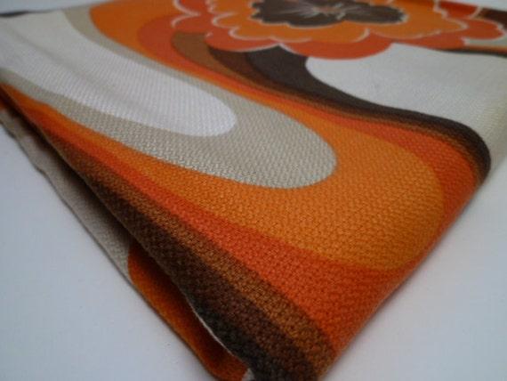 FLOWER WAVE vintage fabric