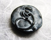 Curly Q Black Nasturtium Bud Button