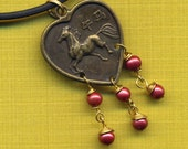Necklace with Year of Horse  Pendant SUPER SALE