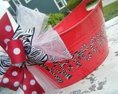 class of 2011......monogrammed and personalized bucket and basket...great graduation gift