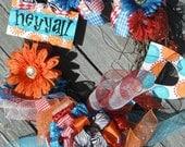 hey y'all...wreath.......Whimsically monogrammed sEAsoNaL wreath