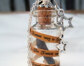 "Babylon Candle Glass Vial Pendant ""The Fastest Way to Travel"""