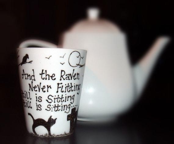The Raven Hand Painted  Mug Edgar Allan Poe