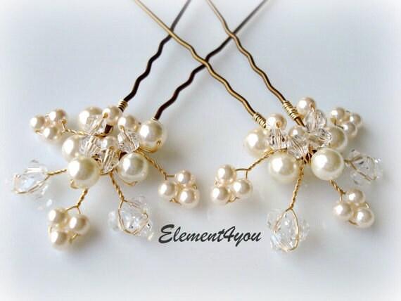 Bridal Hair With Pins : Bridal hair piece wedding set of leaves vines