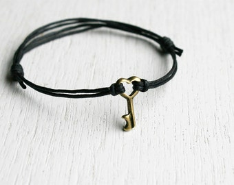 Little Key bracelet / Little Key Anklet (many colors to choose)