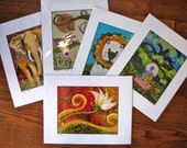 Little Lion Designs Prints of Original Collages - fully matted signed and bagged