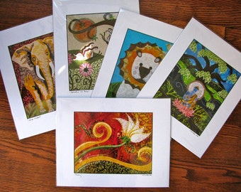 Prints of Original Collages - fully matted signed and bagged