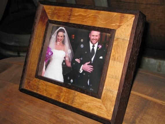 "Wine Barrel Stave Picture Frames -- 8"" x 10"""