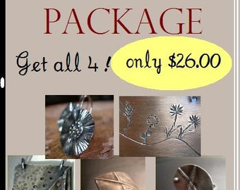 SALE 26.00- Jewelry Making Metalsmithing Tutorial Package