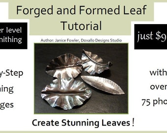 Jewelry Tutorial - Forged and Formed Leaf