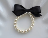 Flower Girl  Pearl Bracelet custom made all ribbon colors and gift wrapped perfect little girl pearls