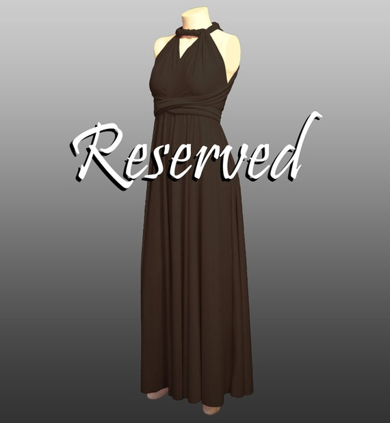 RESERVED for Phyllis -- 2 Long Full Flowing Free-Style Bridesmaids Dresses in brown