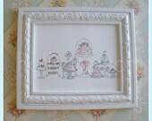 SWEETCAKES original art print