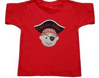 Pirate Boy Shirt, Personalized Shirt