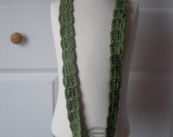Pretty green crochet necklace