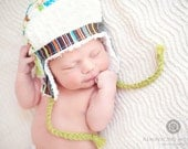Super Adorable-Hoot Hoot Chenille Bomber Earflap Hat-Great Photo Prop, also Fully Functional