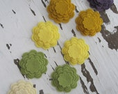 Felt Flower Cut Outs-Blueberry Pail Collection-Scalloped Edge Flower-DIY