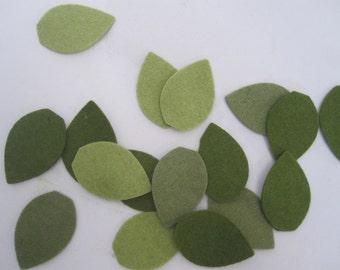 Leaf Felt Cut Outs-DIY hair clips, scrapbook, headband-30 pieces-Leaves Felt Die Cut Felt Leaves