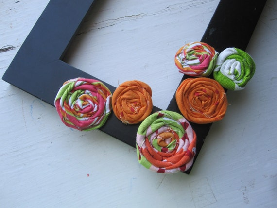 Fabric Flowers-Summer Song Collection-Rolled Fabric Flowers-Fabric Roses