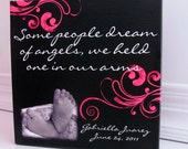 Memorial Bereavement Canvas or Gift - A custom designed and personalized gift