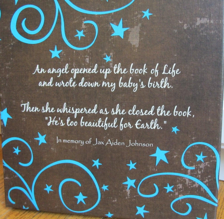 Custom Canvas Infant Child or Adult Death Sympathy Gift