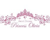 Princess Wall Decal Nursery- Sweet Dreams Princess CUSTOMIZED Name Monogram Vinyl Decal