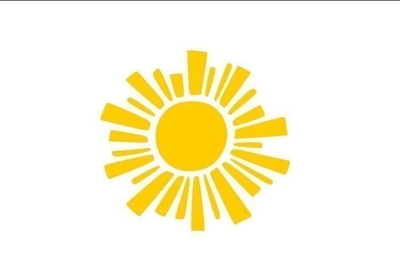 Sun Wall Decal- Sunny Side Up