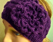 Plum Violet Purple Ear Warmer Cozy Adult Headband