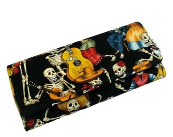 Wallet   Day  of  the  dead  skeleton wallet  us handmade
