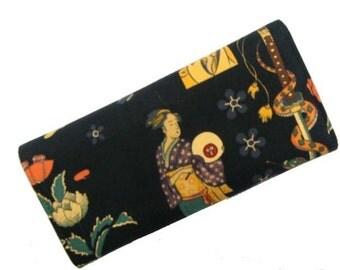 Wallet  zen  tattoo  skeleton  exterior us  handmade  alexander henry  fabrics