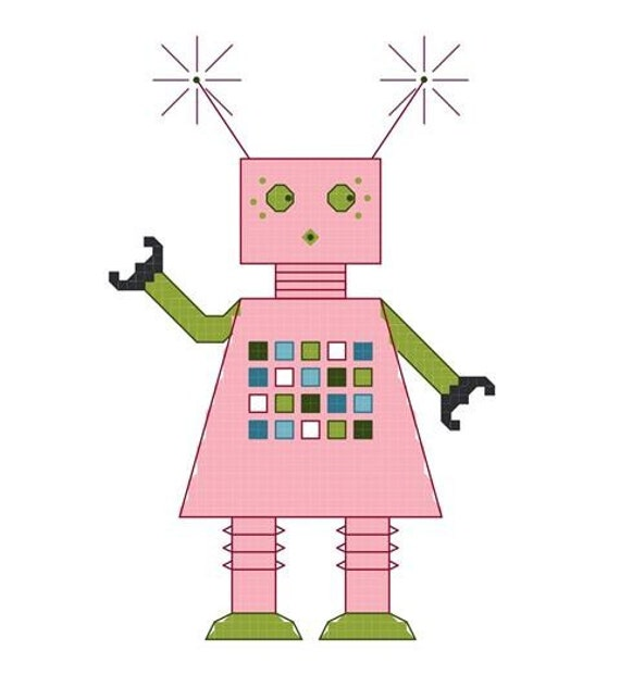 Cross Stitch Kit - Girlbot